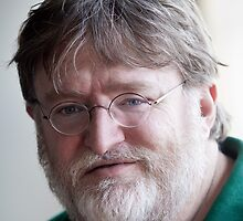 Gabe Newell's Bearded Face by slappybag