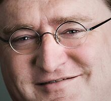 Gabe Newell Upclose by slappybag