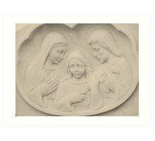 Jesus As A Young Boy With Mary and Joseph Art Print