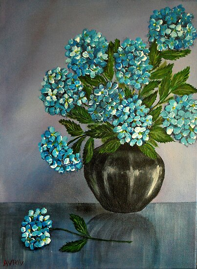 Hydrangeas by Avril Brand