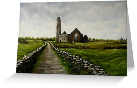 """Scattery Island Ruins - County Clare, Ireland"" by Avril Brand"