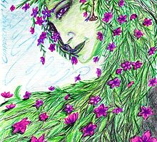 flowers faery-féérie florale by sandra chapdelaine
