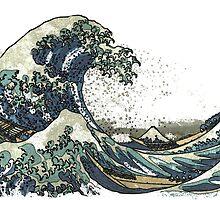 The Great Wave off Kanagawa (神奈川沖浪裏) by Arikarrion
