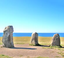 Standing Stones By The Baltic by HELUA