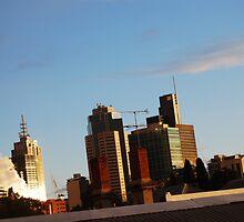 Melbourne Skyline by HanLoosschilder