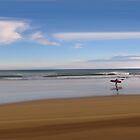 Coldingham Surfer by bluefinart