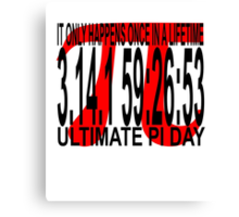 2015 Ultimate Pi Day Tee.png Canvas Print