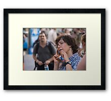 Very important phone call Framed Print