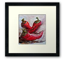 Poppin' Peppers Framed Print
