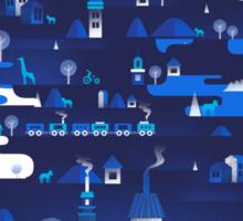 Midnight Blue Sticker