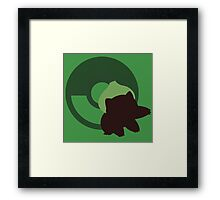 Bulbasaur - Sunset Shores  Framed Print