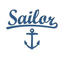 Sailor Anchor Navy Photographic Print