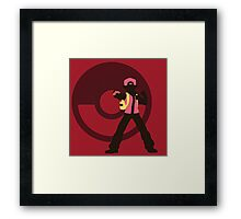 Red (Pokemon) - Sunset Shores Framed Print