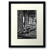Monochrome Under the Pier Framed Print
