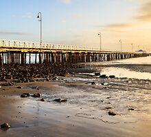 Pier from Shorncliffe Beach by Silken Photography