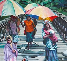 Women on the Bridge by laillustrator