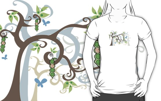 Magic Trees and Baby Boys in a Pod T-shirt by fatfatin