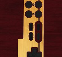 Classic wood Nes Controller by EllieDahlena