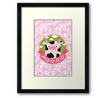cow and milk Framed Print