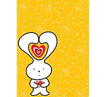 Valentine Bunny Photographic Print