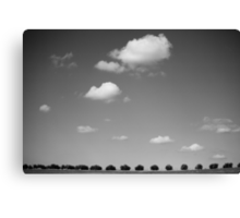 running with clouds Canvas Print