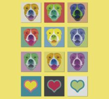 Smiling Staffy dog shirt by lana3210