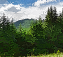 Impressions of Mountains and Meadows and Trees Sticker
