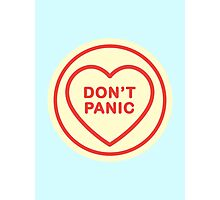 Geeky Love Hearts - Don't Panic Photographic Print