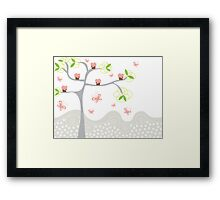 Cupcakes Tree Framed Print