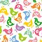 Retro Rainbow Chicks by fatfatin