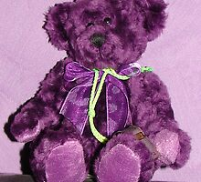 PURPLE TEDDYBEAR by Sharon Robertson