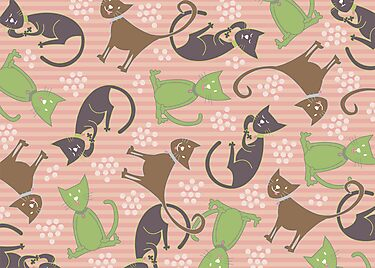 Kitties in Pink by fatfatin