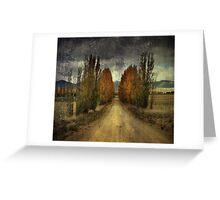 Autumn Textures Greeting Card
