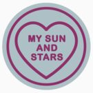 Geeky Love Hearts - Sun and Stars by SevenHundred