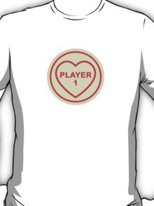 Geeky Love Hearts - Player 1 T-Shirt