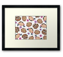 Happy Silly Faces Framed Print