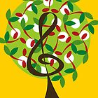 Musical Cherry Notes Tree by fatfatin