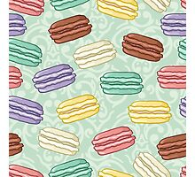Pastel colored macarons Photographic Print