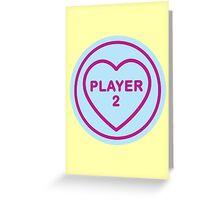 Geeky Love Hearts - Player 2 Greeting Card