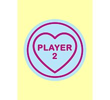 Geeky Love Hearts - Player 2 Photographic Print