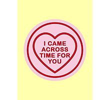 Geeky Love Hearts - Time Photographic Print