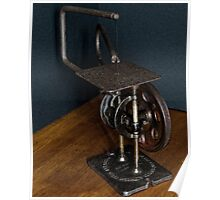 American Made Retro Scroll Saw Poster