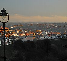 Whitby Town in the evening light by dougie1