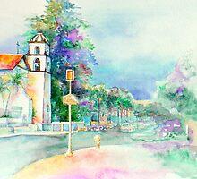 Ventura Mission and Main Street by gerardo segismundo