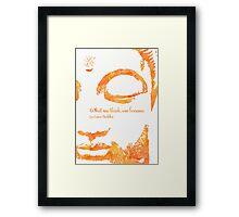 Gautamma Buddha Mango Framed Print