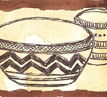 African clay pots - Ethnic series by Maree  Clarkson