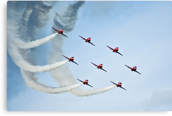 Red Arrows by Richard Hamilton-Veal