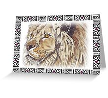 African Lion - Ethnic series Greeting Card