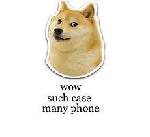 ' wow such case ' 'many phone ' Doge Meme Case by Emoji Mania