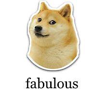 'fabulous' Doge Meme Design by Emoji Mania